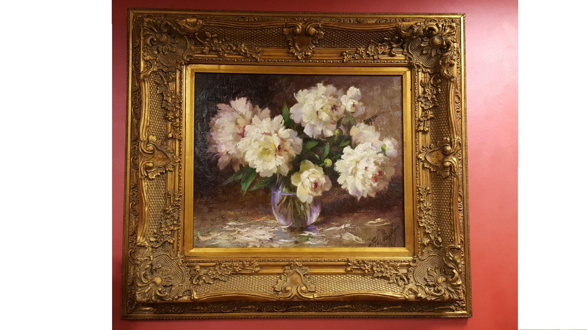 Цветы в раме фото картины